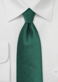 Herringbone Tie in Pine and Hunter Green