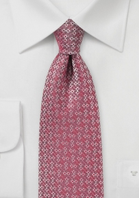 Geometric Spade Design Tie in Red