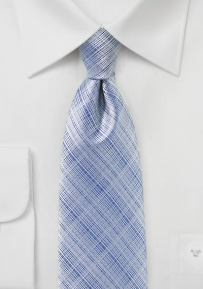 Monochromatic Plaid Tie in Kentucky Blue