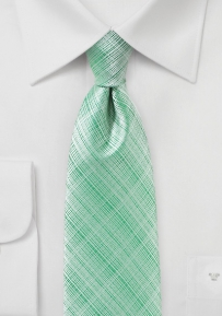 Linen Textured Summer Tie in Neptune Green