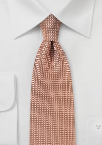Apricot Mens Tie with Woven Texture