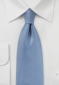 Mens Tie in Light Blue with Woven Texture