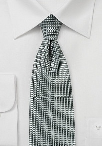 Elegant Gray Tie with Woven Circular Texture