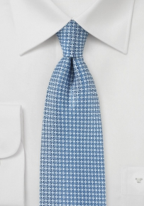 Sky Blue and Platinum Mens Tie