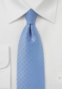 Summer Polka Dotted Necktie in Baby Blue