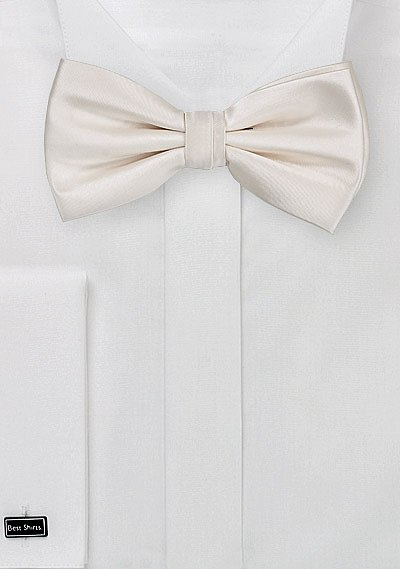 Formal Solid Cream Colored Bow Tie Bows N Ties Com