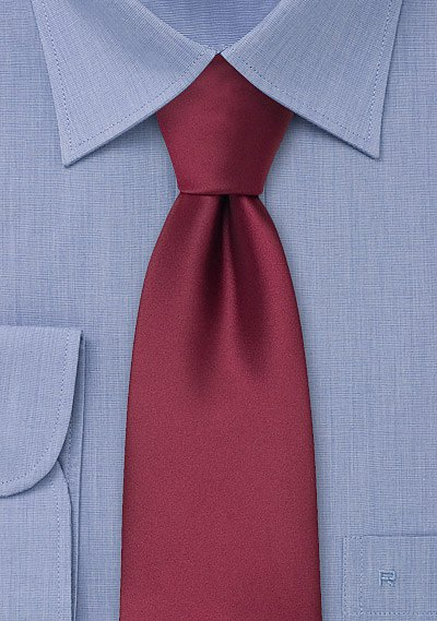 Solid Burgundy Red Mens Necktie Bows N Ties Com
