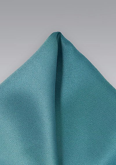 Solid Color Pocket Square In Light Teal Bows N Ties Com