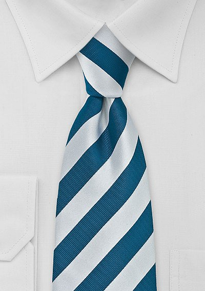 Striped Tie Turquoise And Silver Bows N Ties Com