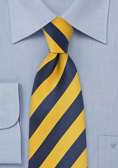 Blue And Yellow Striped Tie Bows N Ties Com