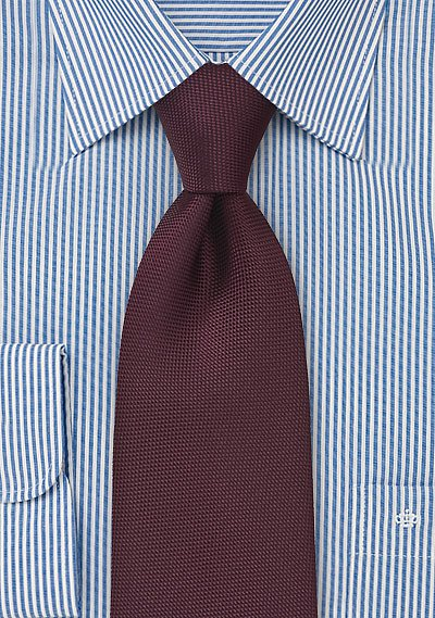 Matte Sheen Xl Length Tie In Maroon Bows N Ties Com