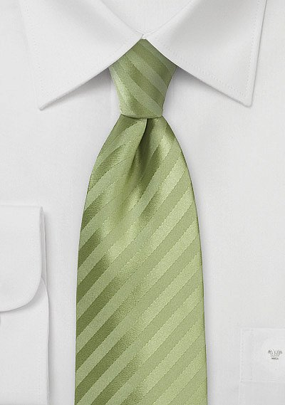Soft Green Summer Tie With Subtle Stripes Bows N Ties Com