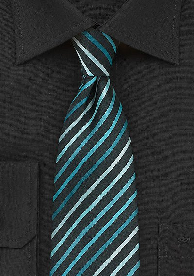Aqua and Teal Striped Men's Tie | Bows-N-Ties.com Yellow And Black Pattern