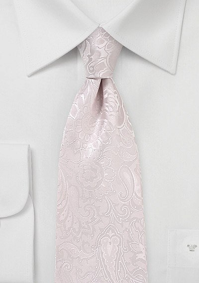 Floral Paisley Tie In Soft Blush Bows N Ties Com
