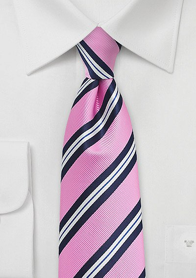 Bright Pink Blue And White Striped Tie Bows N Ties Com