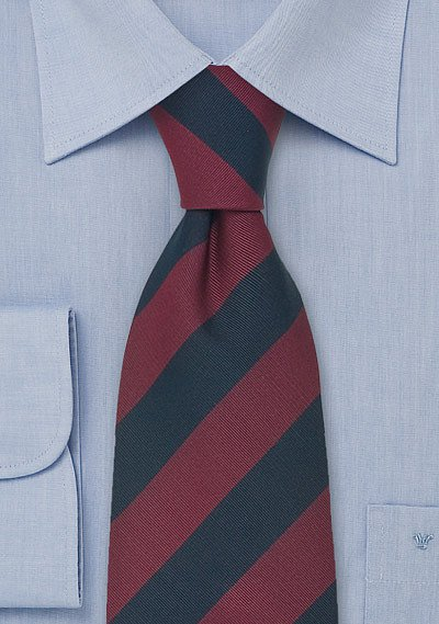 Repp Striped Necktie In Burgundy And Navy Bows N Ties Com