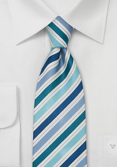 Designer Silk Tie In Blue And Turquoise Bows N Ties Com