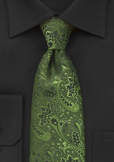 Olive Green And Black Floral Tie Bows N Ties Com