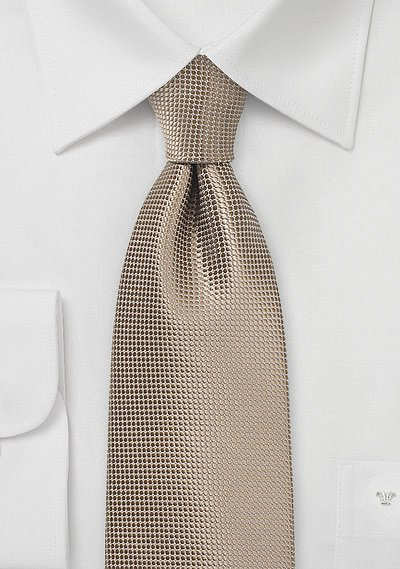Solid Taupe Color Necktie With Texture Bows N Ties Com