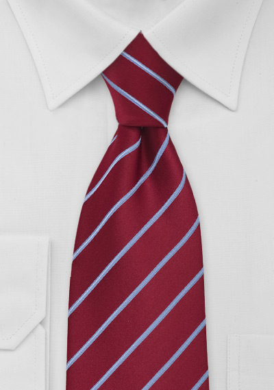 Cherry Red And Sky Blue Striped Tie Bows N Ties Com