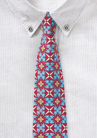 Colorful Mexican Tile Print Cotton Tie Bows N Ties Com