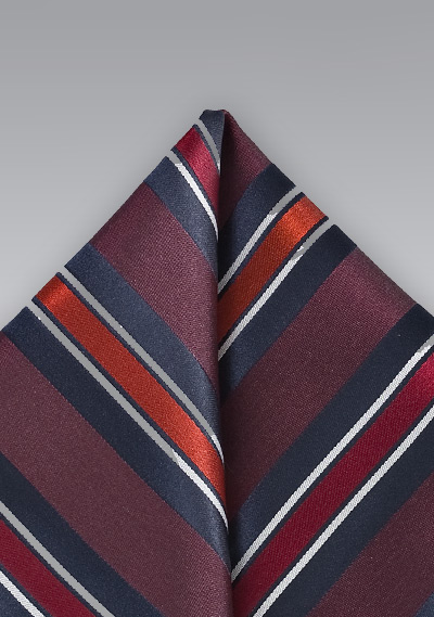Mens Wide Striped Handkerchief Bows N Ties Com