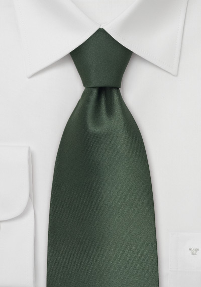 Dark Hunter Green Silk Tie In Solid Color Bows N Ties Com
