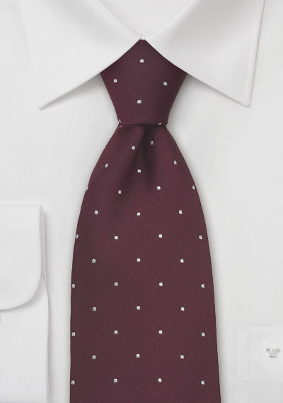 Chestnut Brown And White Polka Dot Tie Bows N Ties Com