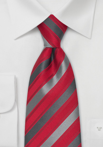 Red Gray Silver Striped Silk Tie Bows N Ties Com