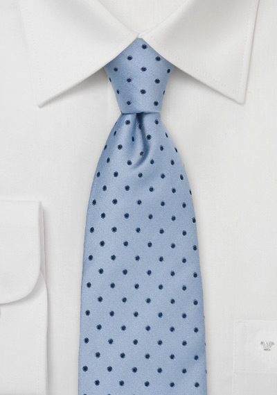 Light Blue Mens Tie With Polka Dots Bows N Ties Com