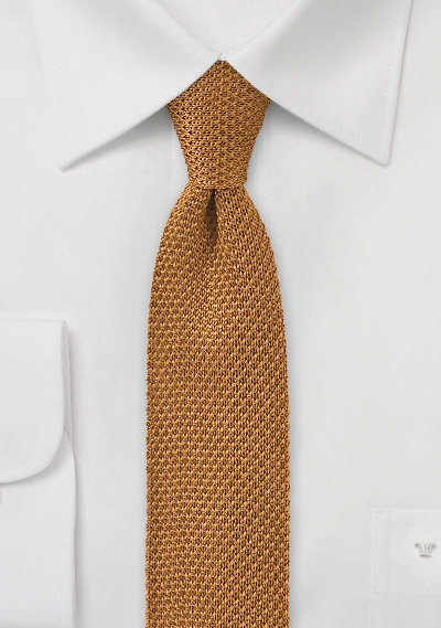 Golden Mustard Colored Knitted Necktie Bows N Ties Com